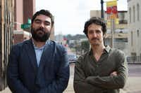 Director and producer Joel Fendelman (left) and producer James Chase Sanchez of the PBS <i>Independent Lens</i> documentary <i>Man on Fire </i>about the Rev. Charles Moore.(PBS)