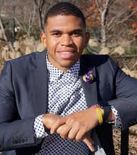 Xavier Rice of Fort Worth graduated from Prairie View A&M University. He is now a first year medical student at University of Texas Medical Branch at Galveston.(Lawrence Jenkins/Special Contributor)