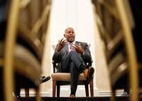 <p>Brian Williams, chairman of the Dallas Citizens Police Review Board, was part of a panel discussion earlier this month related to the shooting death of Botham Jean, the 26-year-old killed at his apartment in September.</p>(Tom Fox/Staff Photographer)