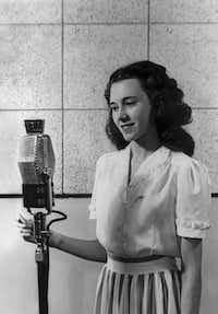 "Wygant as a student at Purdue University in West Lafayette, Ind. She would pursue broadcasting after discovering that the student radio station utilized female announcers.<br>(From the book, ""<i>Talking to the Stars: Bobbie Wygant's 70 Years in Television</i>""<br>)"