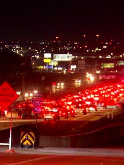 67-year-old man dead after vehicle veers off Loop 820, rolls down