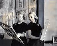 "<p><span style=""font-size: 1em; background-color: transparent;"">Margaret McDermott (left), who had only recently been named president of the Dallas Art Association, is shown with Betty Blake, who at the time was board president of the Dallas Museum for Contemporary Arts. (Doris Jacoby/The Dallas Morning News</span></p>(Doris Jacoby /Staff Photographer )"