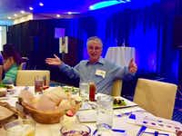 The Watchdog's favorite photo of the year. Nobody would sit beside him at a luncheon in which AT&amp;T would win an ethics award.(<p>Courtesy photo</p>/Niki Nicastro McCuistion<br>)