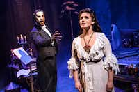 Quentin Oliver Lee as The Phantom and Eva Tavares as Christine Daa  in Andrew Lloyd Webber's 'The Phantom of the Opera.' Dallas Summer Musicals and Broadway Across America present the national tour Dec. 19, 2018-Jan. 6, 2019 at the Music Hall at Fair Park. (Matthew Murphy)