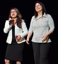 Rosaura Cruz (left, is executive director of Junior Players and producer of Green Day's 'American Idiot,' and Valerie Hauss-Smith is the director.(Ben Torres/Special Contributor)