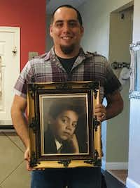 "Jamie Contreras holding a photo of Jose ""Pepe"" Villegas as a child. Contreras, a childhood friend of Villegas', reconnected with the man decades after the two lost touch.(Courtesy of Jamie Contreras)"