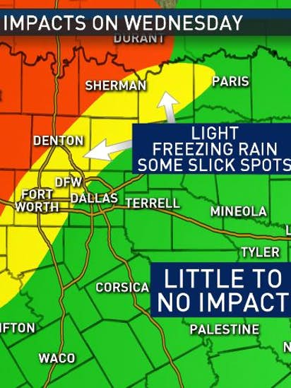 NBC5 Forecast: First winter storm of 2019 will impact parts of North