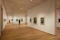 """Brown Foundation Gallery featuring """"The Condition of Being Here: Drawings by Jasper Johns.""""  Photos of the Louisa Stude Sarofim Building housing the Menil Drawing Institute, at the Menil Collection in Houston.(Richard Barnes/The Menil Collection)"""