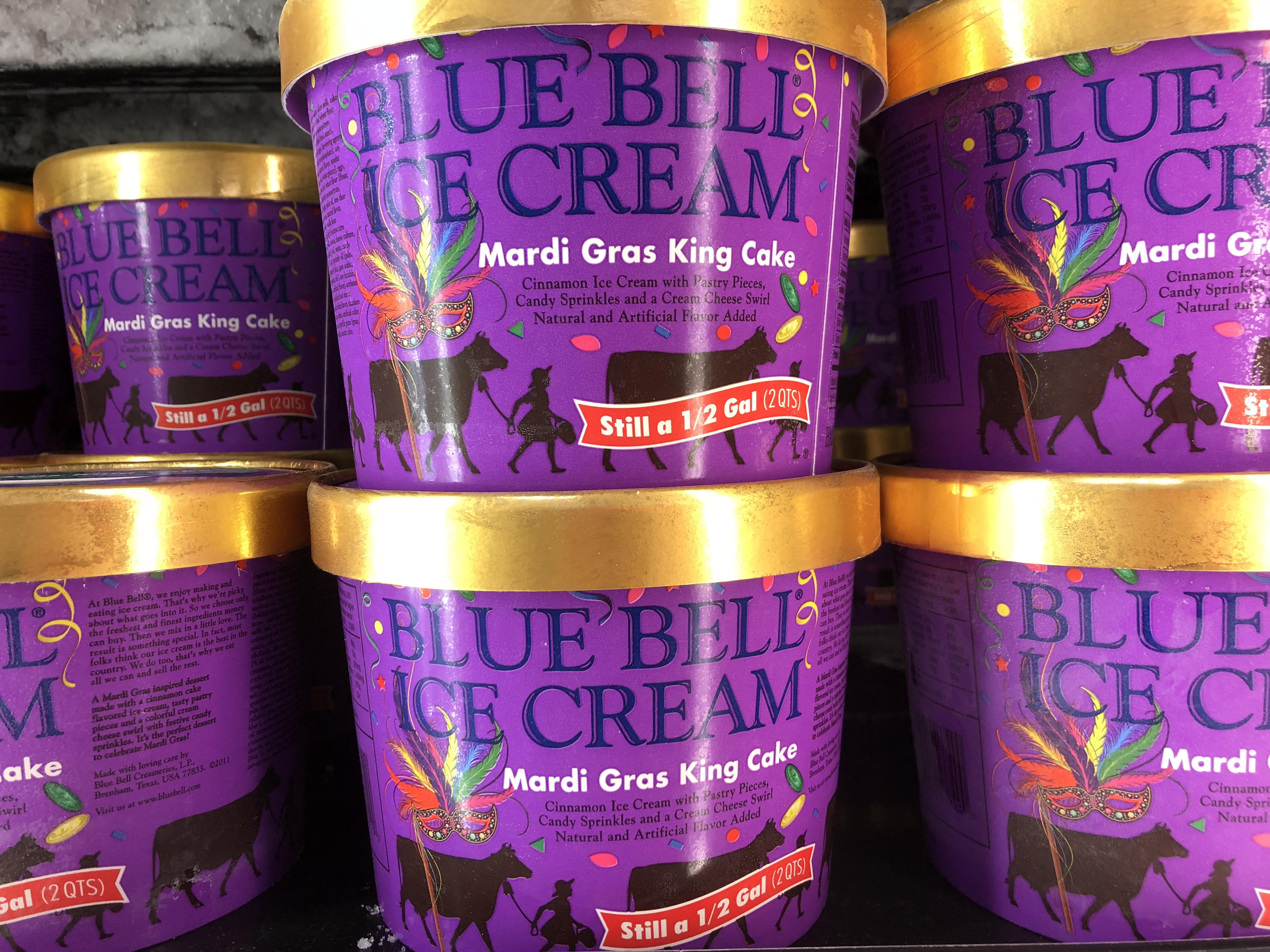 Blue Bell S Mardi Gras King Cake Ice Cream Will Be Available In