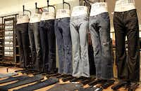 New jeans hit retail shelves in August and September so wait a month or two before you buy.(Lara Solt/Staff Photographer)