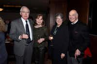 Retired Austin Industries CEO Bill Solomon and his philanthropic wife, Gay, with Texas Tree Foundation CEO Janette Monear and Stan Levenson at his 85th birthday party on Dec. 28.(Kristina Bowman)