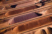 Iron ore is at risk of a drop as slowing growth in China could hurt demand.(AP)