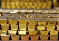 Gold is sitting at a six-month high as investors seek protection from market turmoil.(Mike Groll/AP)