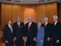 <div>Reynolds, at far right, in a photo taken as he joined the Highland Park town council in 2004. <br></div>(Courtesy of Highland Park Town Council<br>/File photo<br>)