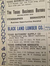 From the 1902 Dallas city directory
