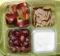 Small portions of healthy snack foods can provide kids with choices and variety.(David Woo/Staff Photographer)
