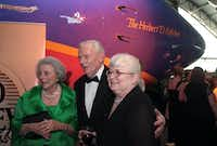 Herb Kelleher,, his wife, Joan Kelleher (left), and Colleen Barrett  at their fundraising retirement gala.(Rex C. Curry)
