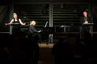 "<div><br></div>Soprano Tony Arnold, pianist Gilbert Kalish and baritone William Sharp perform <i>Some Favored Nook</i>&nbsp;by Eric Nathan during a ""Soundings: New Music at the Nasher"" series concert at the Nasher Sculpture Center on Jan. 4, 2019, in Dallas.&nbsp;(Smiley N. Pool/Staff Photographer)"