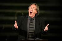 "Baritone William Sharp performs 'Four Walt Whitman Songs""by Kurt Weill during a ""Soundings: New Music at the Nasher"" series concert at the Nasher Sculpture Center on Friday, Jan. 4, 2019, in Dallas. (Smiley N. Pool/The Dallas Morning News)"