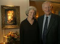 Joan and Elvis Mason at the Celebration of Reading reception at the home of Jan and Bob Pickens in September 2005.(File Photo/Staff)