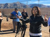 U.S. Rep Veronica Escobar of El Paso says a wall is a solution in search of a problem, explaining there's no crisis on the border.(Alfredo Corchado/The Dallas Morning News)