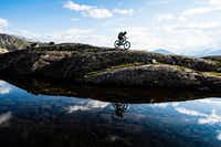 Guests can hike or ride mountain bikes during the summer months at Niehku Mountain Villa. (Mattias Fredriksson)