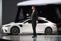 """<p>Gill Pratt, CEO Toyota Research Institute, tells an audience at CES that Toyota's advanced driver assist t<span style=""""font-size: 1em; background-color: transparent;"""">echnology can take over and guide a car out of harm's way when the human driver becomes drowsy, distracted or drunk..</span></p>(ROBYN BECK/AFP/Getty Images)"""
