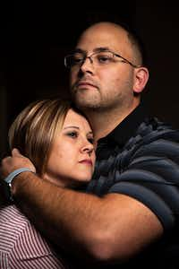Taylor Siler, photographed with her husband, Clint Siler, was the first woman whose uterus donation resulted in a successful pregnancy in the United States. (Shaban Athuman/Staff Photographer)