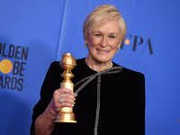 Glenn Close poses with the award for best performance by an actress in a motion picture, drama at the 76th annual Golden Globe Awards at the Beverly Hilton Hotel on Jan. 6, 2019, in Beverly Hills, Calif.(Jordan Strauss/Invision)