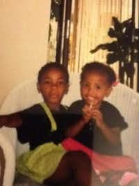 Kishima Smith (left) with her sister Kishana Jeffers during their childhood.(Kishima Smith)