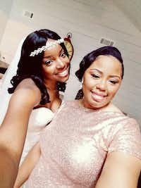 Selena Boyd (left) with her childhood best friend Kishana Jeffers at Boyd's wedding.(courtesy Selena Boyd)