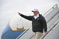 President Donald Trump traveled to McAllen on Thursday to make the case for a wall along the U.S.-Mexico border.(Jim Watson/Agence France-Presse)