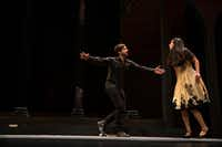 Seth Magill plays the title role in&nbsp;<i>Hamlet </i>with Stephanie Cleghorn Jasso, portraying Ophelia, during a rehearsal at Moody Performance Hall in Dallas(Shaban Athuman/Staff Photographer)