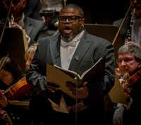 Tenor Russell Thomas performs <i>Das Lied von der Erde</i> with the Dallas Symphony Orchestra. (Robert W. Hart/Special Contributor)