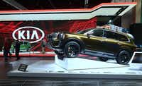 Due out in 2019, Kia's Telluride luxury SUV made an appearance in November at the LA Auto Show.(FREDERIC J. BROWN/AFP/Getty Images)