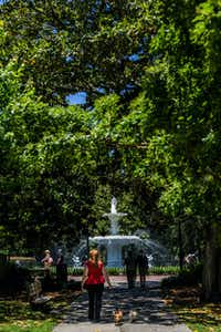 Forsyth Park, with its colossal white fountain, is among Savannah's loveliest public spaces. (Visit Savannah/Courtesy)