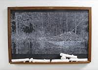 Helen Altman <i>Sticks And Stones (2)</i>, 2017; acrylic on vintage chalkboard, cast plaster(Helen Altman/Talley Dunn Gallery)