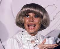 This Feb. 24, 1982, file photo shows actress Carol Channing at the Grammy Awards  in Los Angeles. (Doug Pizac/The Associated Press)