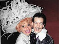 Kevin Ligon and Carol Channing in Dallas Summer Musicals' national tour of 'Hello, Dolly!' in December 1982 in New Orleans, (Courtesy of Kevin Ligon)