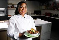 Chef Cynthia Nevels of Soulgood Vegan Food Truck with her Havana Bowl (Brian Elledge/Staff Photographer)