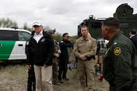 President Donald Trump toured the U.S. border with Mexico on Jan. 10, 2019, in McAllen.(Evan Vucci/The Associated Press)