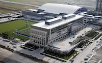 One of the office locations Dr Pepper has scouted is the Dallas Cowboys' Star development in Frisco, real estate brokers say.(Vernon Bryant/Staff Photographer)