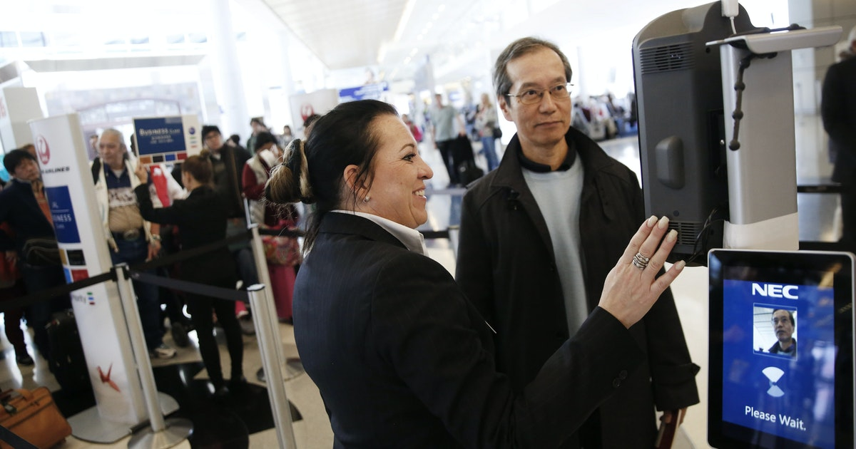 Facial-recognition now being used at DFW Airport to board American Airlines international flights...