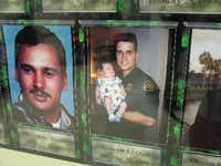 A memorial wall in the U.S. Border Patrol Museum honors agents killed in the line of duty, including Ricardo G. Salinas (left) and Jesus De La Ossa.(Mary Ellen Botter/File Photo)
