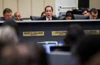 "Dallas City Council member Lee Kleinman said it would be a ""waste of money"" if President Donald Trump diverts flood control money toward building a border wall.(Ashley Landis/Staff Photographer)"