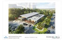 Artist's rendering of the proposed Folsom Wellness Center.(Perkins+Will)