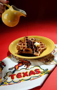 Dr Pepper Waffle drizzled in Dr Pepper Syrup(Vernon Bryant/Staff Photographer)