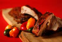 Ribs with Dr Pepper Chili Sauce(Vernon Bryant/Staff Photographer)