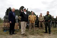 Texas Sens. John Cornyn (left) and Ted Cruz (third from left) joined President Donald Trump this month on a tour of the U.S.-Mexico border(Evan Vucci/The Associated Press)