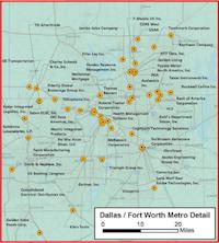 Texas Enterprise Fund recipients in Dallas-Fort Worth.